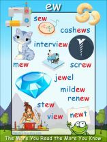 Phonics - 'ew' words in Primary Two