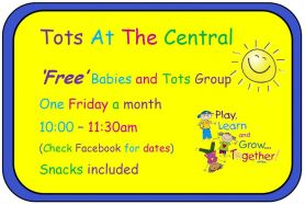 Tots At The Central - This Friday 21st September @ 10am