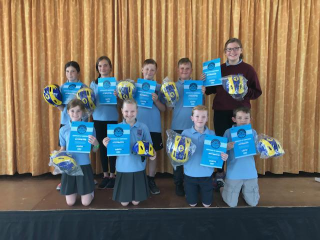 The pupils who passed their Cycling Proficiency exam